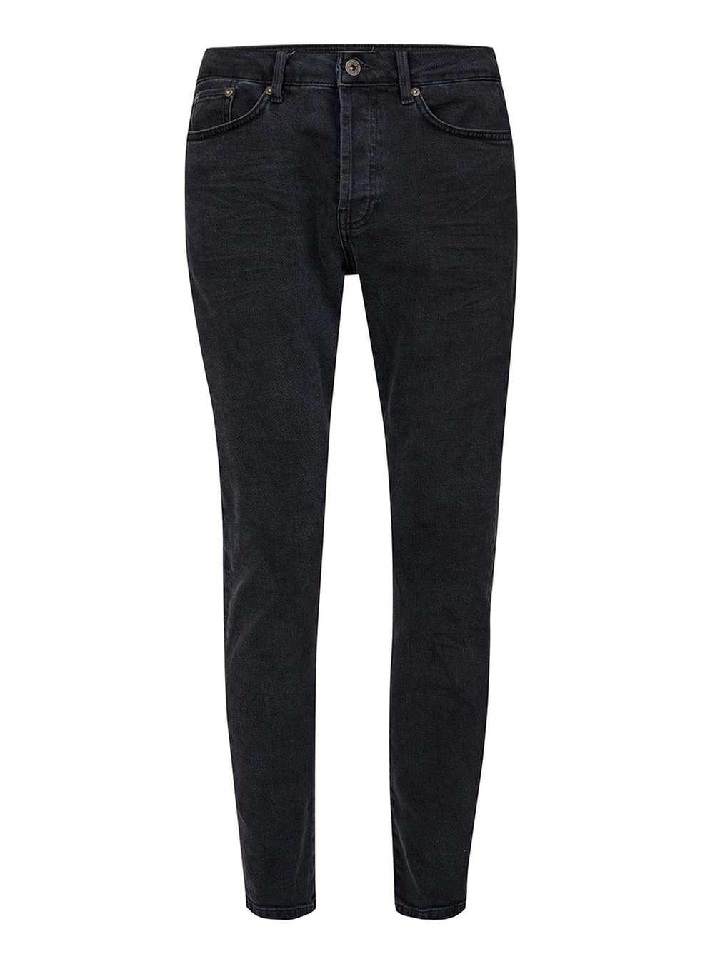 Topman Washed Black Jeans