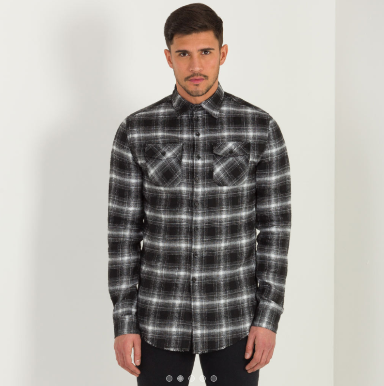 FLANNEL PLAID SHIRT - CHECKED BLACK