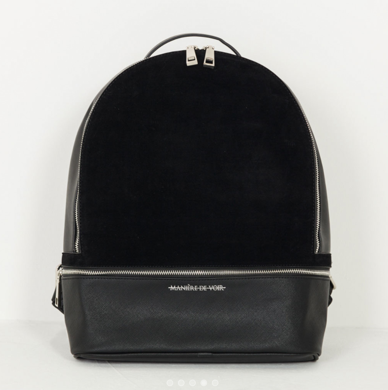 SUEDE BACKPACK - BLACK