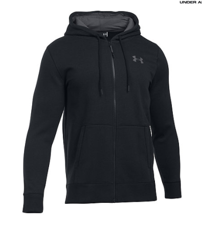 Under Armour Black logo print hoodie