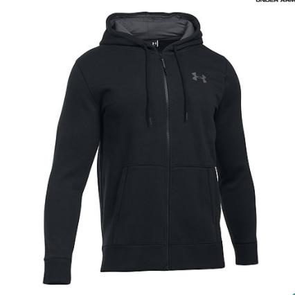 Under Armour Black logo print hoodie