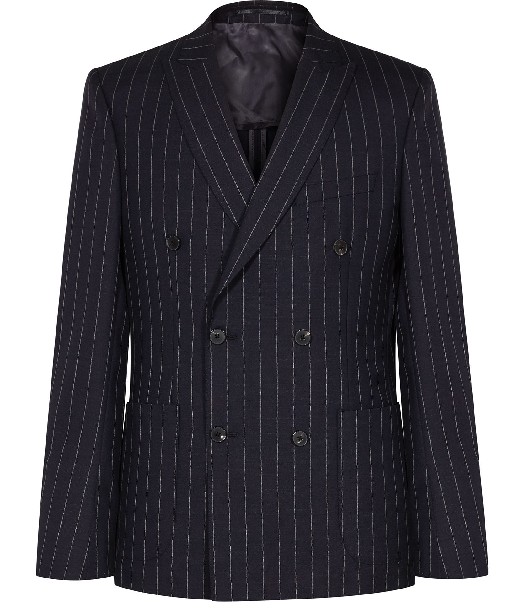 Reiss Navy Pinstripe Suit