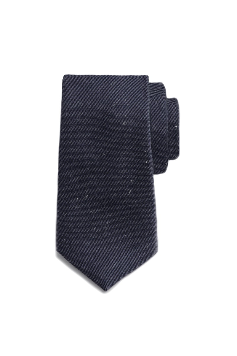 Navy Speckled Tie