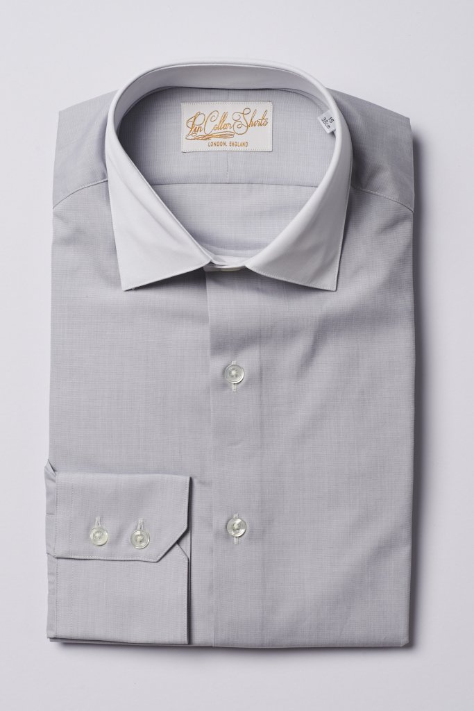 Hawkins & Shepherd Grey Formal Shirt