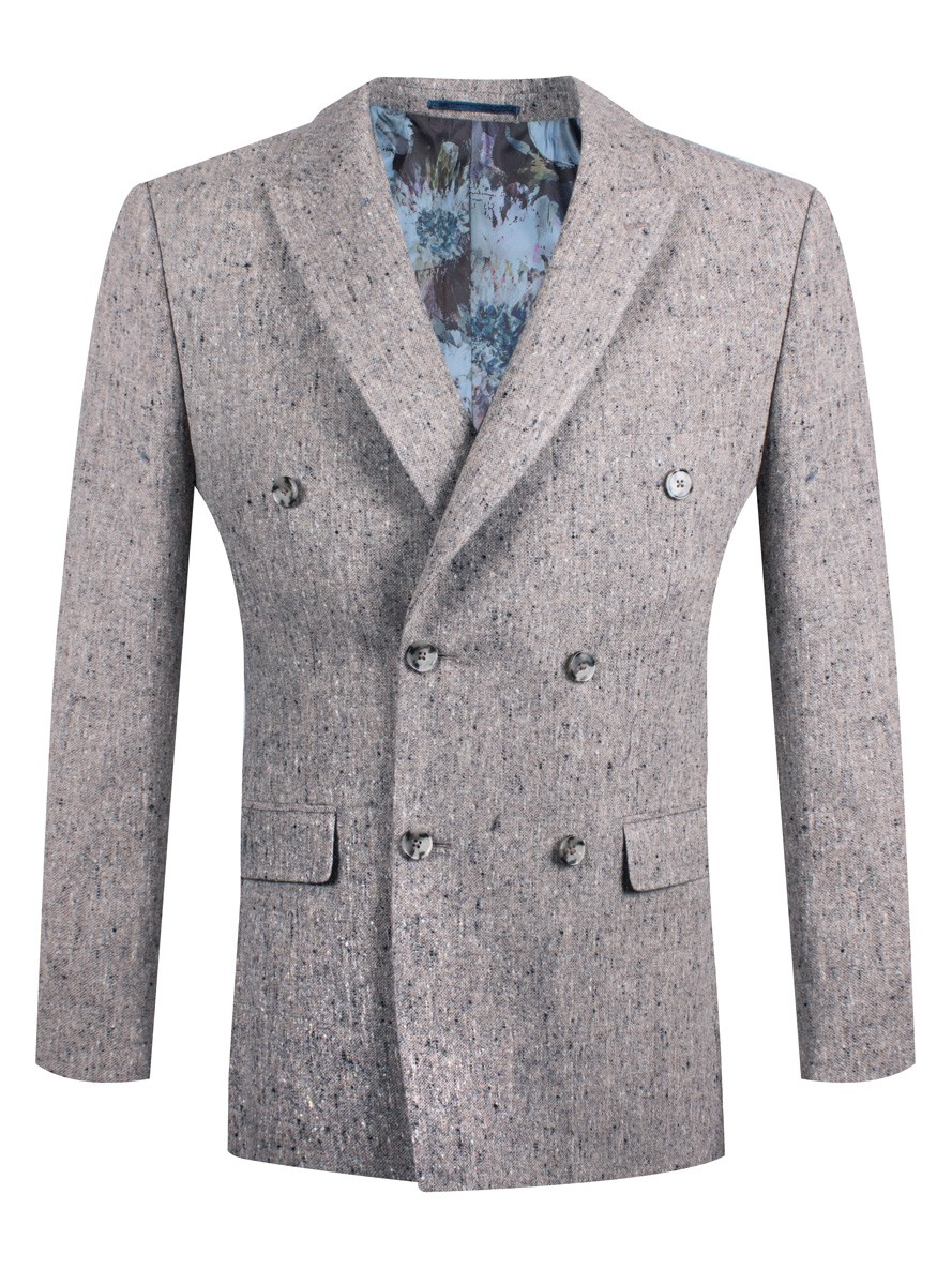 Steel & Jelly Double-Breasted Blazer Grey