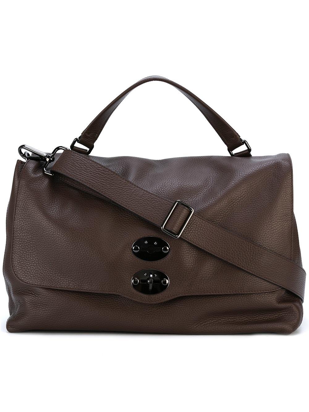 Brown Leather Large Tote Bag