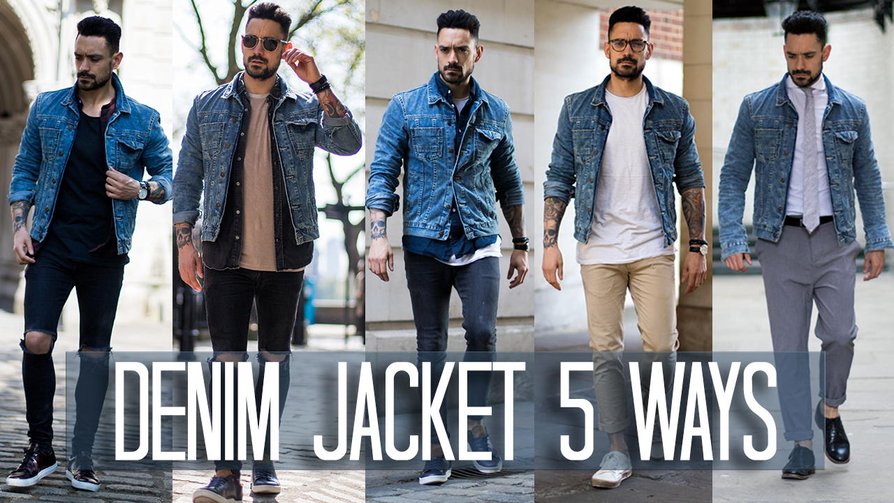 How to wear a denim jacket men