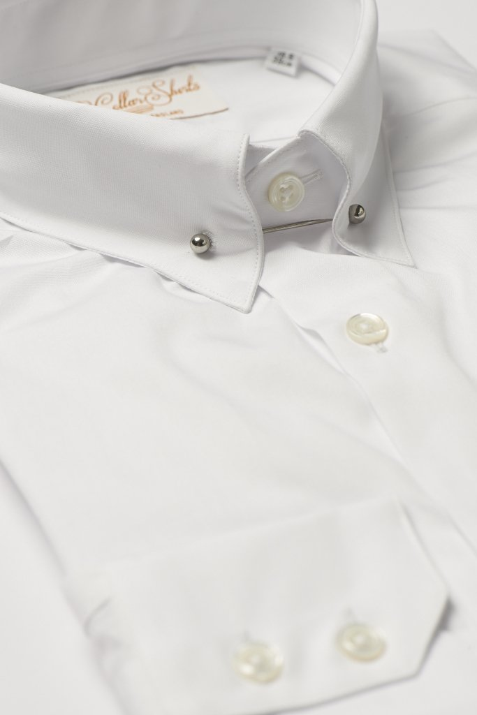 Hawkins & Shepherd White Pin Collar Shirt