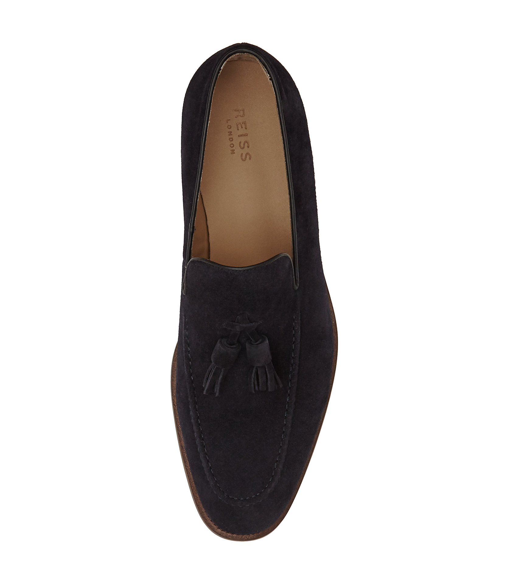 Reiss Suede Tassel Loafers