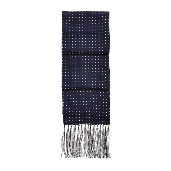 Men's Navy Polka Scarf