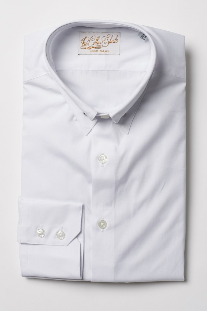 White Pin Collar Shirt