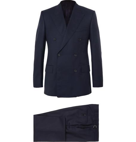 Kingsman x Harry's Navy Super 120s Wool And Cashmere-Blend Suit