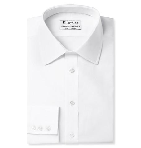 Kingsman x Turnbull & Asser White Cotton Royal Oxford Shirt