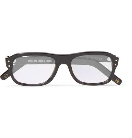 Kingsman x Cutler and Gross Eggsy's Square-Frame Acetate Optical Glasses