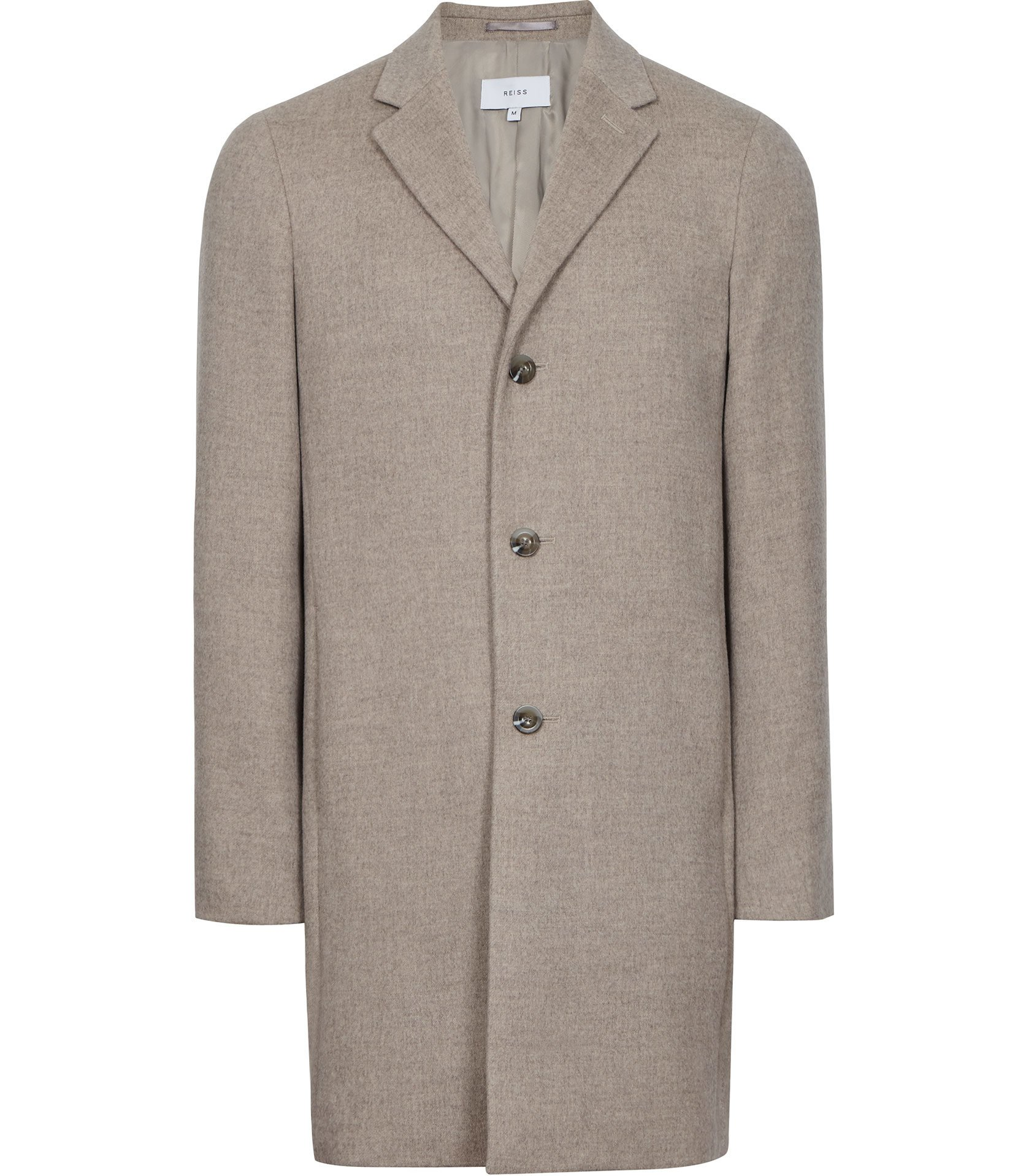 Reiss Oatmeal Overcoat