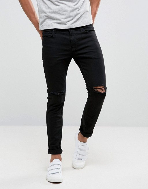 ASOS Black Ripped Jeans