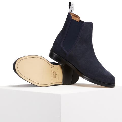 Navy Chelsea Boot