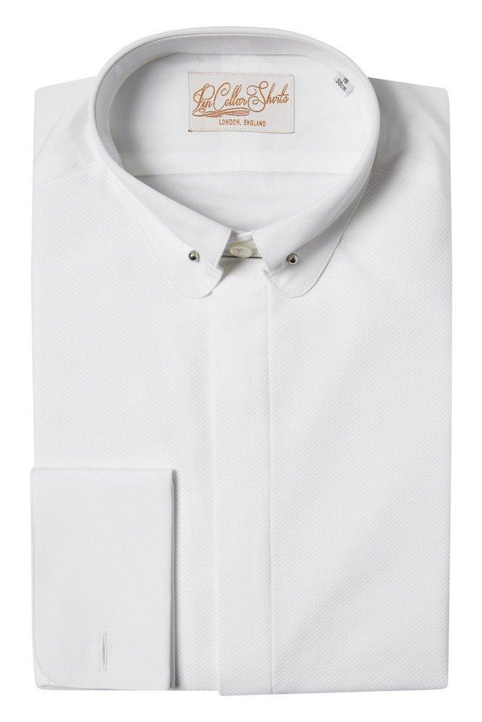 Tuxedo Pin Collar Shirt