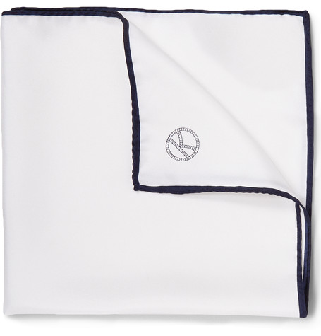 Plain White Pocket Square