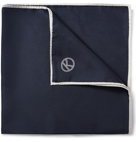 Plain Navy Pocket Square