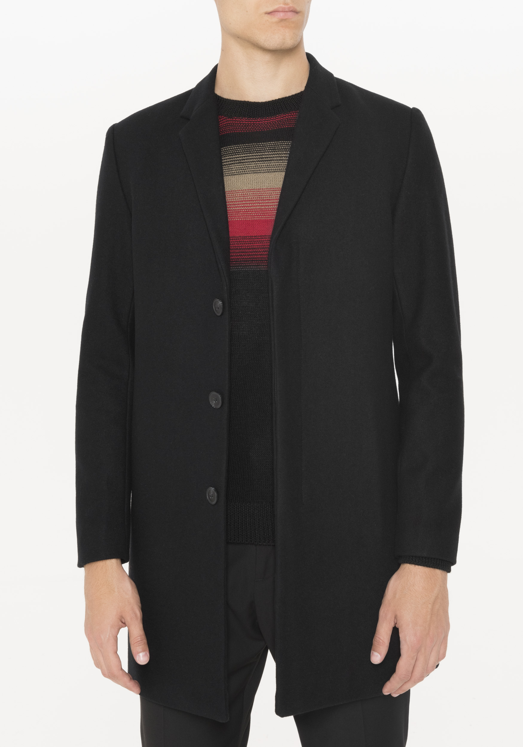 Black Overcoat Men's