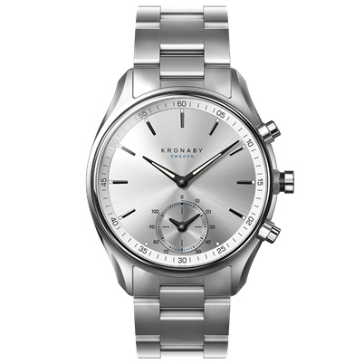 Kronaby Watch - Sekel Sterling Stainless Stainless - Front.png