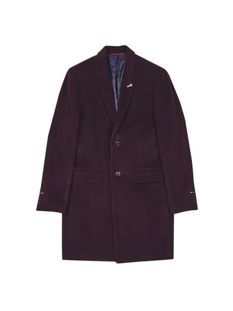 Burton Burgundy Overcoat £59
