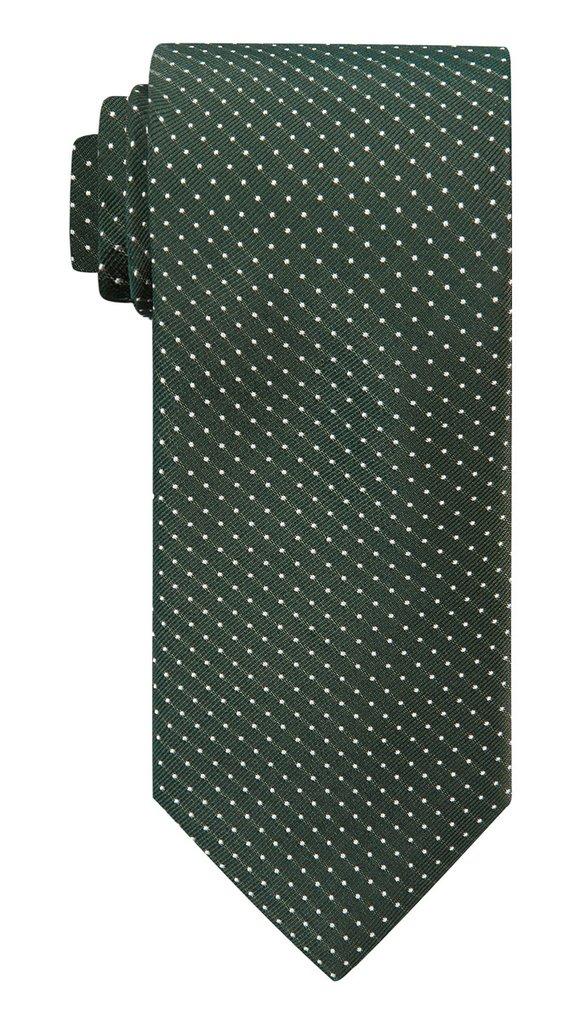 Green Polka Silk Tie £45