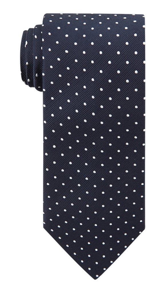 Navy & White Polka Silk Tie £45
