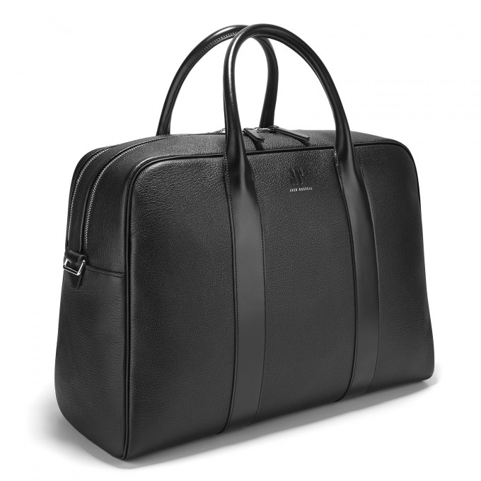 Black Leather 24hr Bag