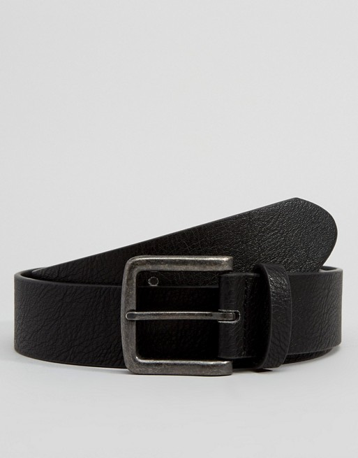 ASOS FAUX LEATHER WIDE BELT IN BLACK