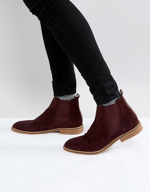 Maroon Chelsea Boots