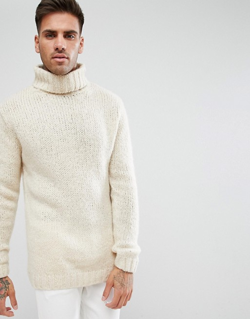 Cream Roll Neck Jumper