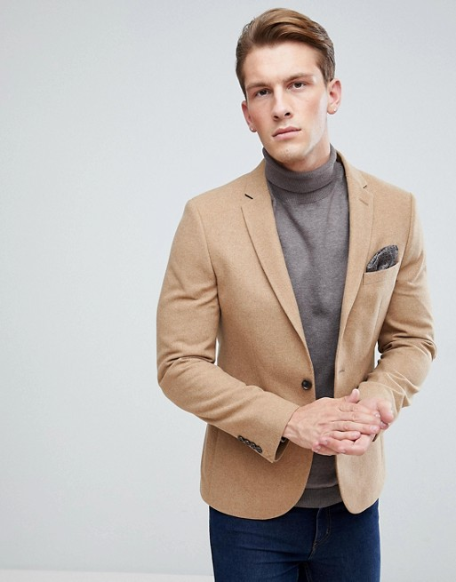 Camel Tweed Blazer