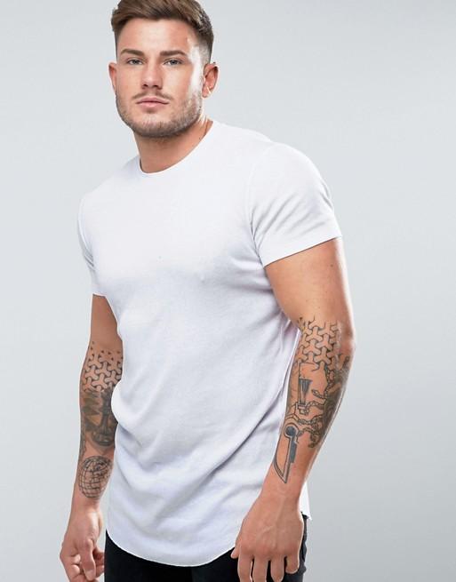 ASOS Longline White T-Shirt
