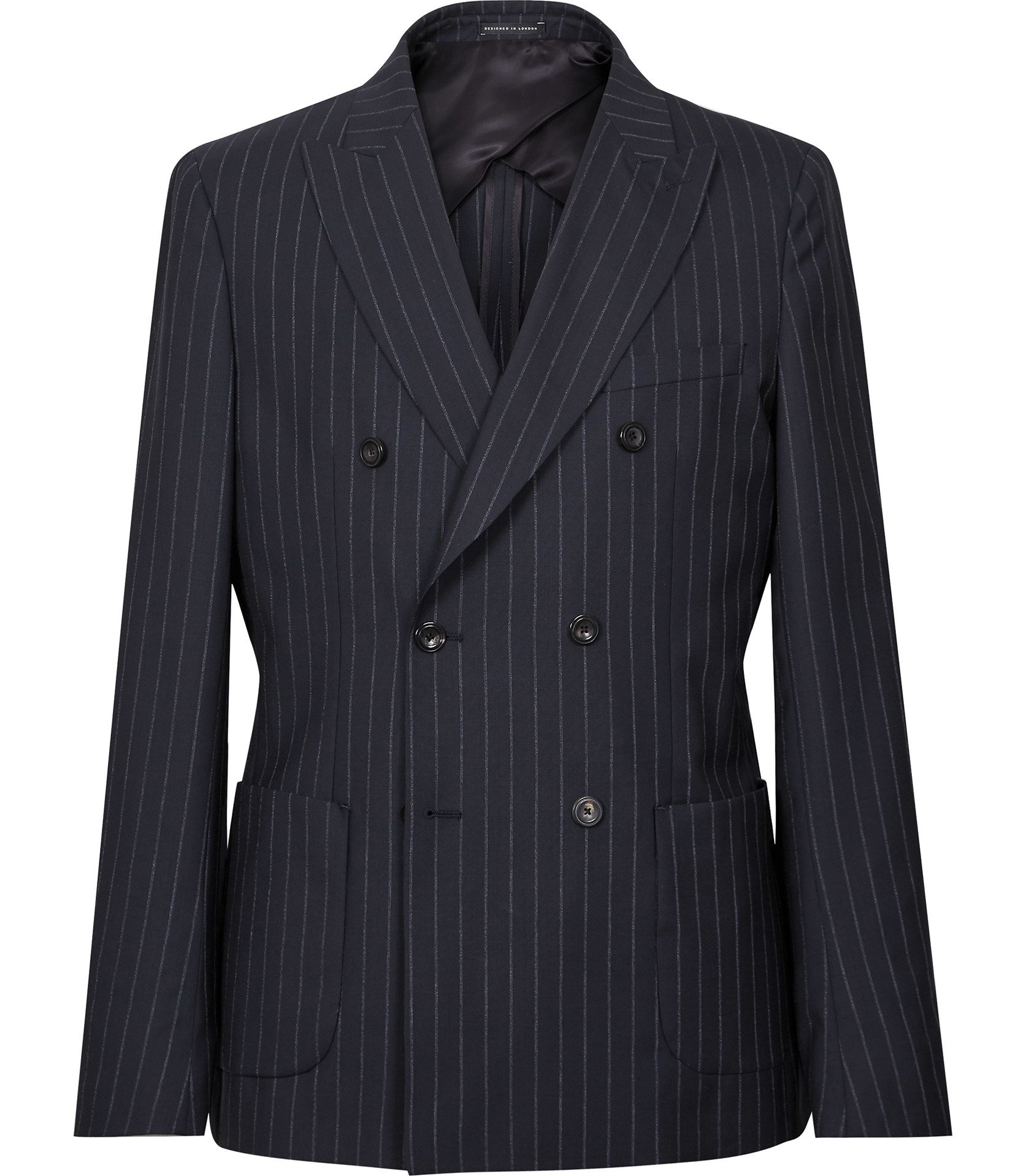 Reiss Navy Double-Breasted Blazer
