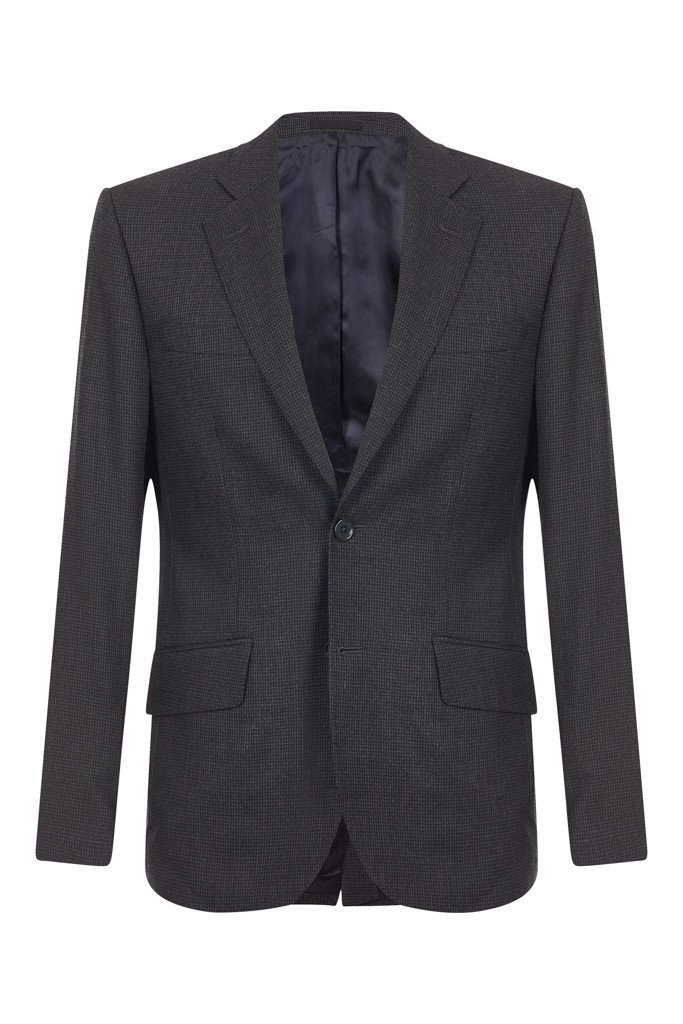 Hawkins & Shepherd 100% British Wool Dark Grey Dogtooth Suit