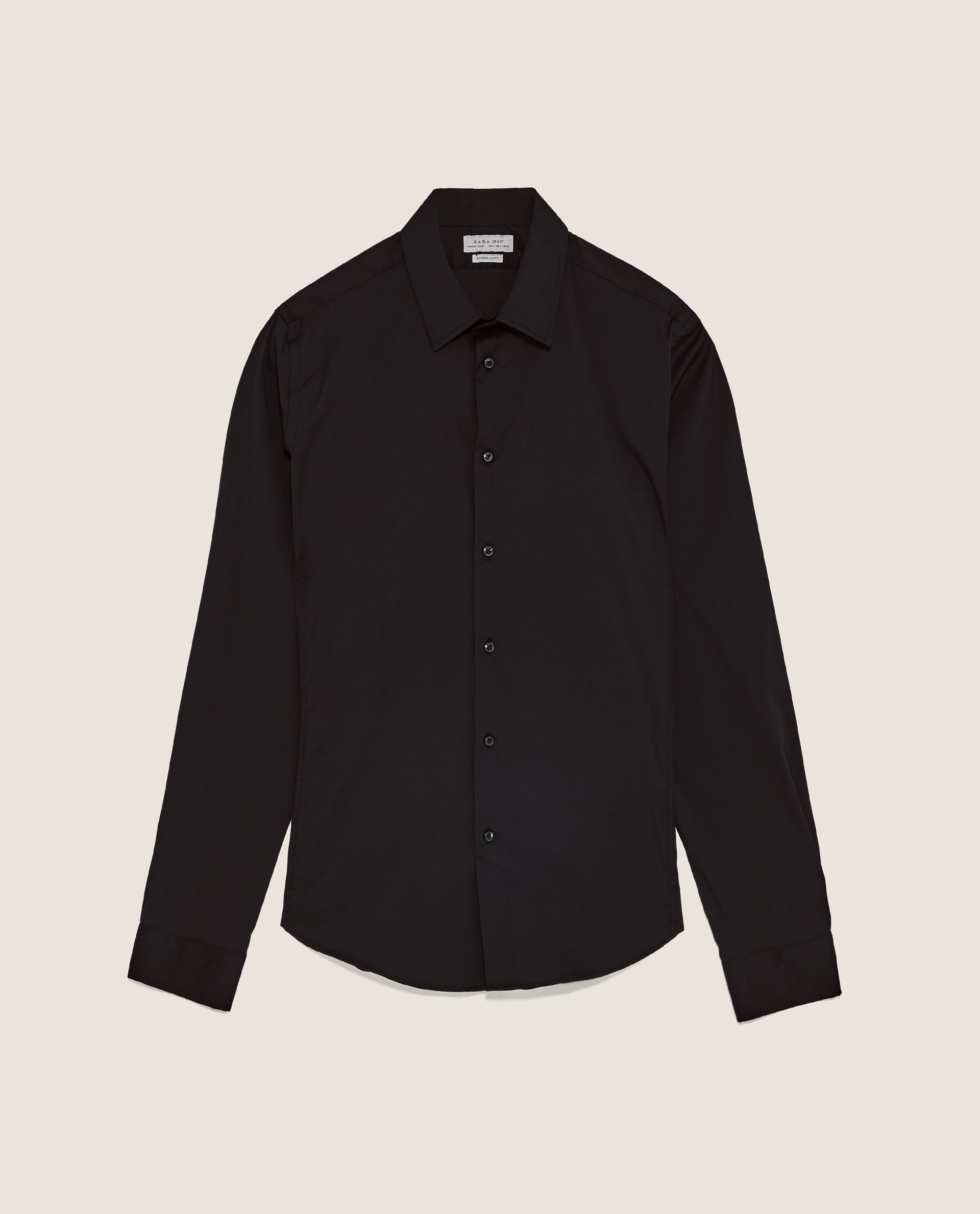 ZARA MAN BLACK SHIRT