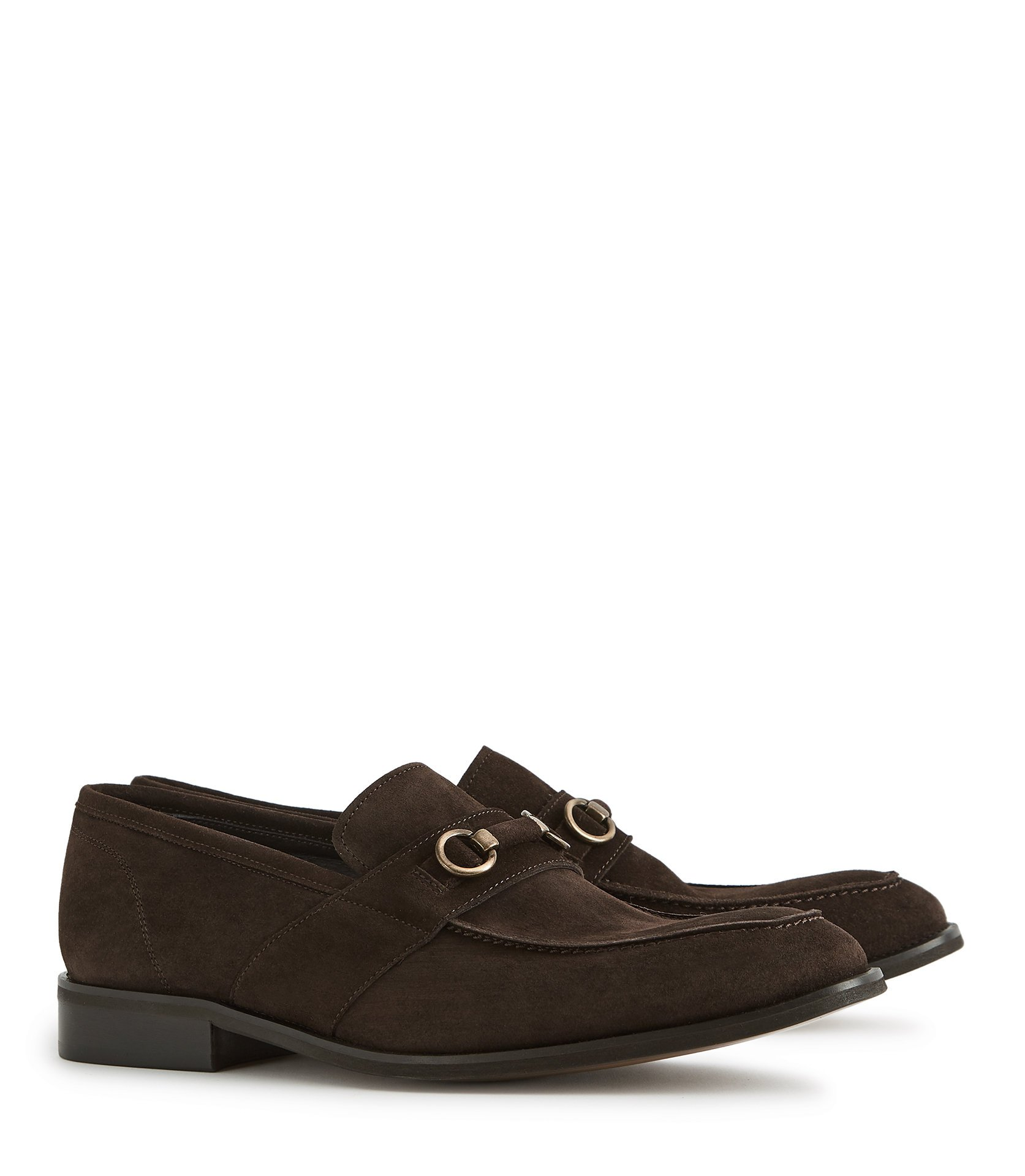 REISS Brown Tan Suede Loafers