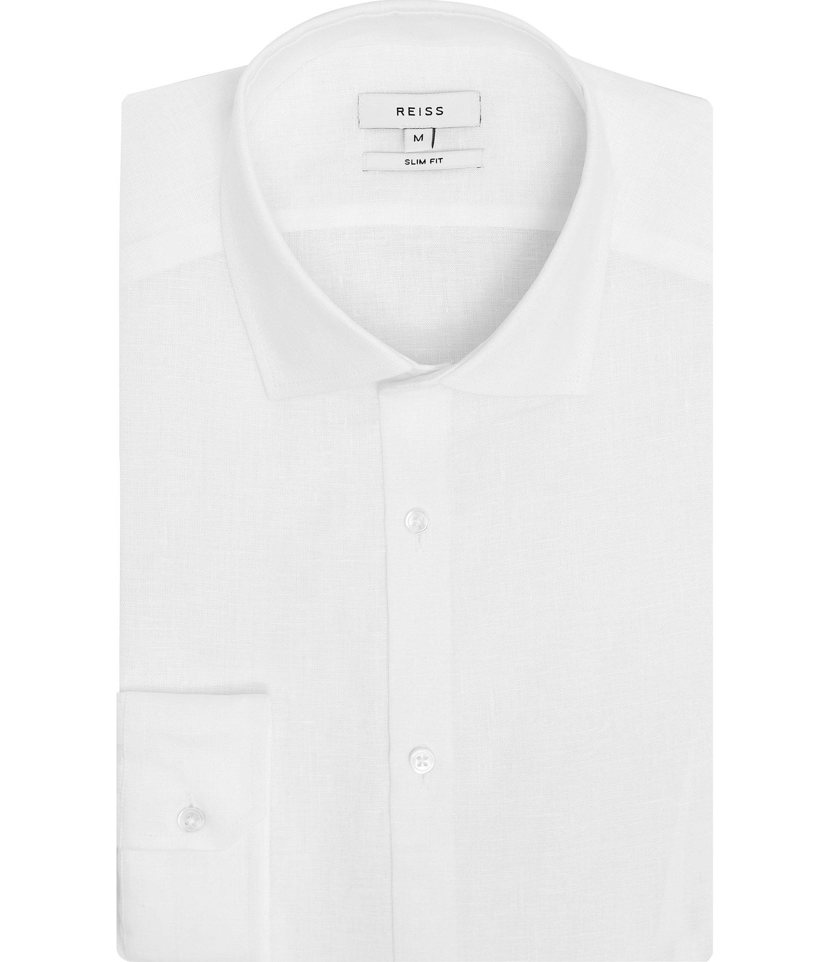REISS White Linen Shirt