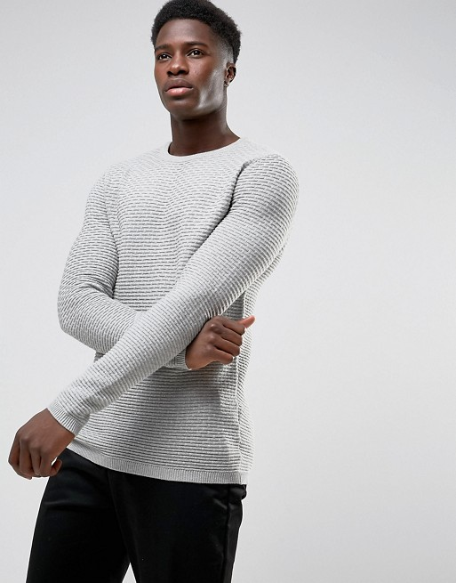 SELECTED HOMME CREW NECK KNIT IN TEXTURE