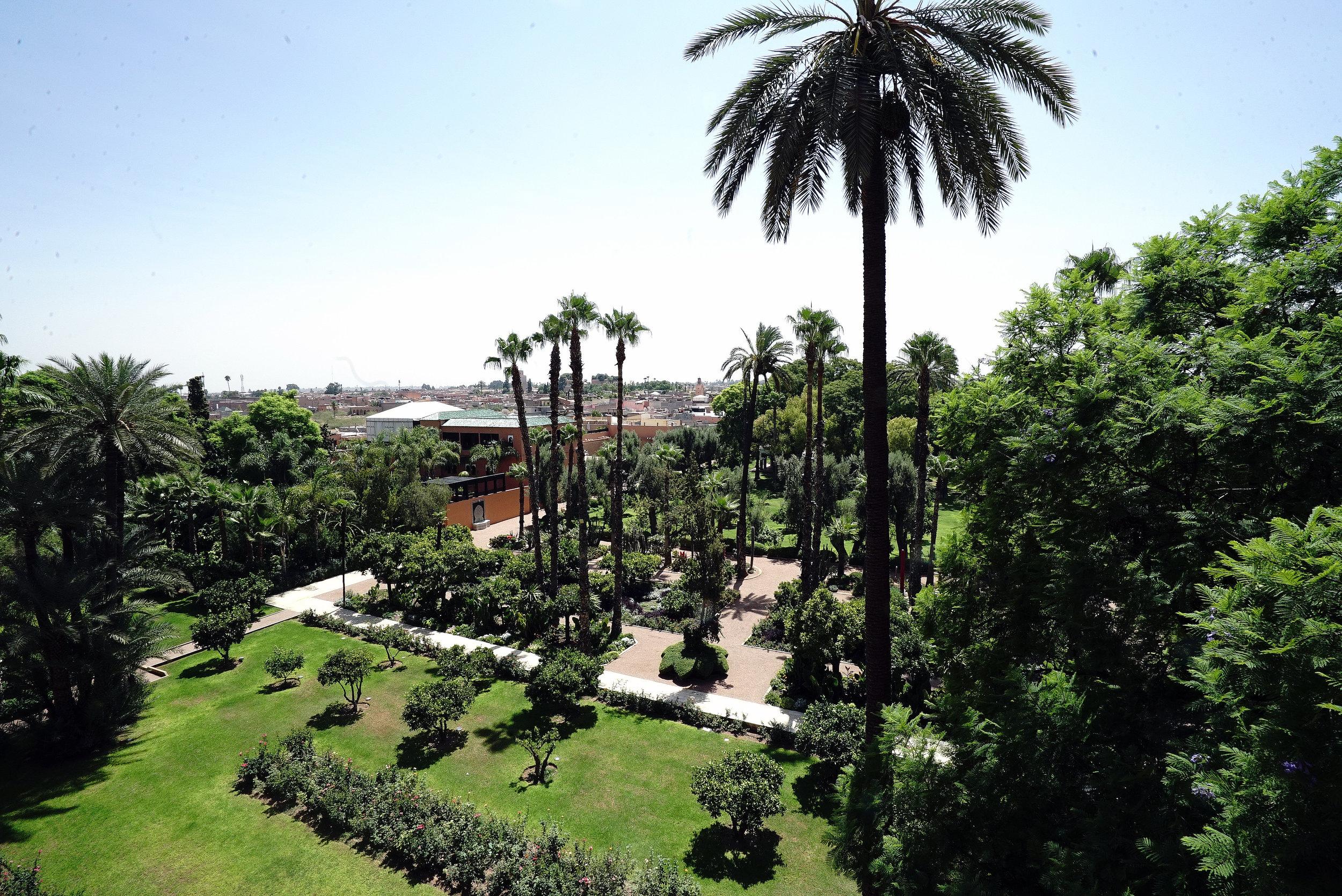 La Mamounia Morocco Suite View From Balcony.jpg