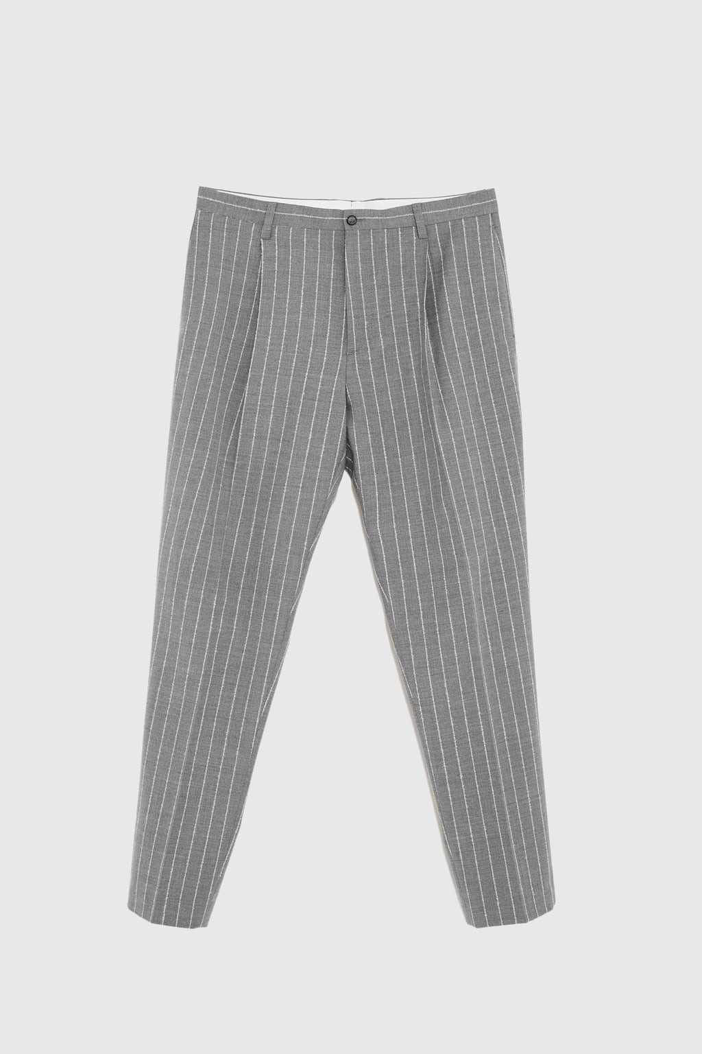 Zara Grey Pinstripe Trousers