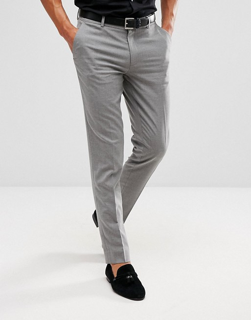 Men's Grey trousers by ASOS