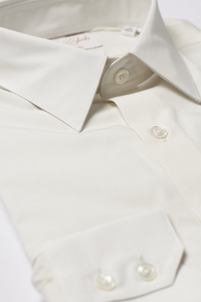 Cream Ivory Ecru Shirt by Hawkins & Shepherd