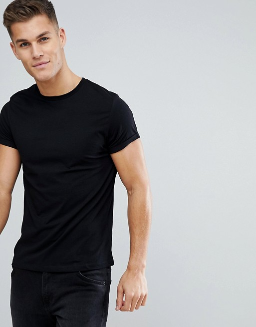 ASOS Black T-Shirt Men