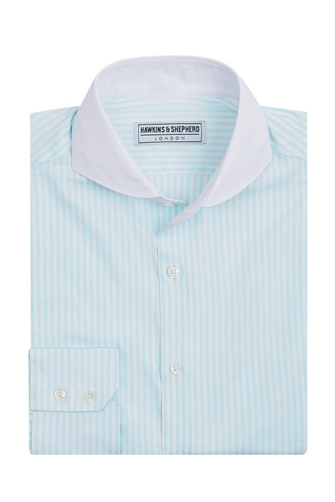 Men's Mint Green Stripe Shirt