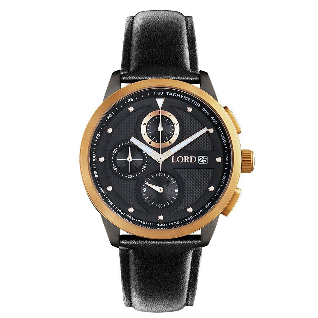 CHRONO ROSE GOLD BLACK