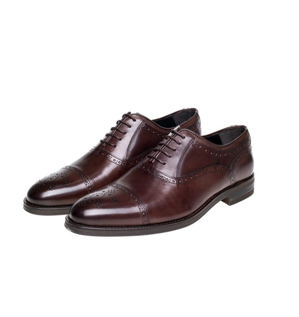 Dark Brown Brogue Shoes