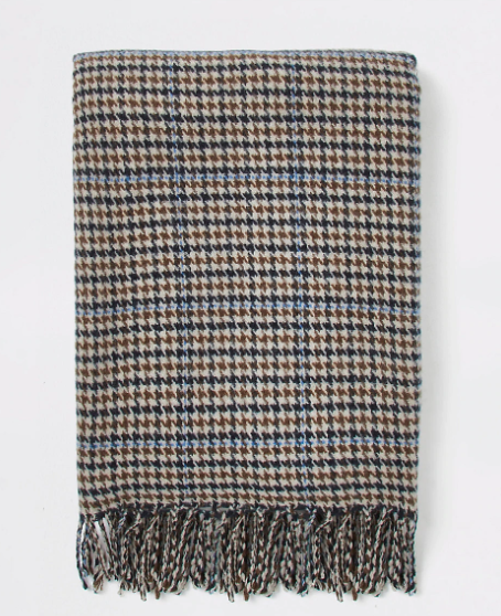 River Island Brown Check Scarf